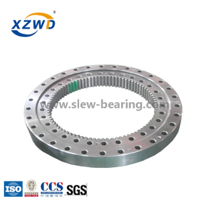 China Single Row Four Point Contact Ball Slewing Ring Bearing For Crane